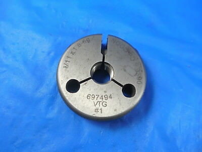 MERCURY GAGE M11 X 1.5 6G NO GO PD 9.862 METRIC OUTSIDE THREAD RING GAUGE