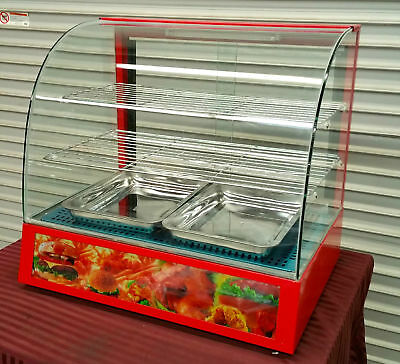 NEW Heated Glass Display Case Counter Top Uniworld DN-CH3 #2295 Hot Food Warmer