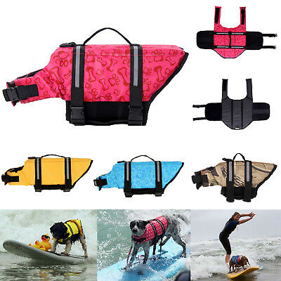 Dog Life Jacket Safty Pet Floating Vest Swimming Preserver Swim Surf Saver Coat