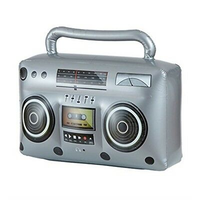 Inflatable BOOM BOX Boogie Beach Ghetto Blaster Novelty Fancy Dress Party Toy