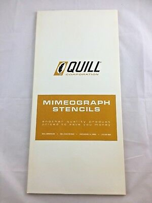 Vintage Quill Mimeograph Stencils New Original Packaging M 1005 C CB OR WCB (L8)