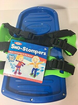 Ideal- Blue Sno-Stompers Fit Shoe Up To Size 5 - Dinosaur FootPrint Snow Tracks