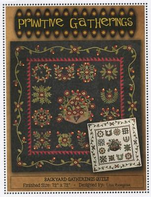 Backyard Primitive Gatherings Pattern Baltimore Album Floral Spring Summer
