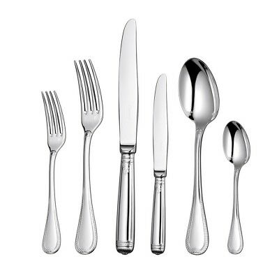 Malmaison by Christofle 36-Piece Silver Plated Flatware Set 6 w/chest Dn New