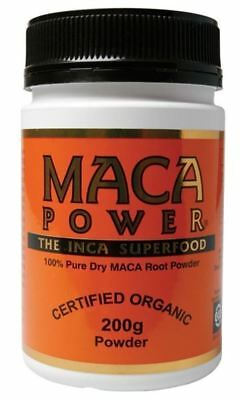 Maca Powder 200 Gm Inca Superfood Certified Organic 100% Dry Maca Root