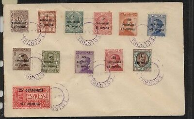 Austria    Italy  stamps  on  cover   12  stamps                      MS0107