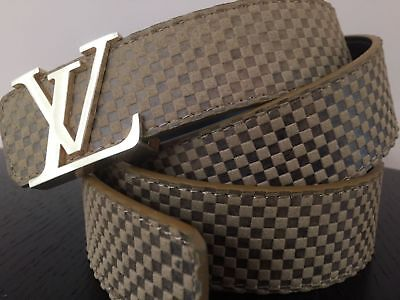 """NEW Fashion  SOFT Belt Unisex in Brown with gold buckle 50""""'"""