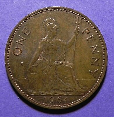 1964 Great Britain Large One Penny Copper Coins!!