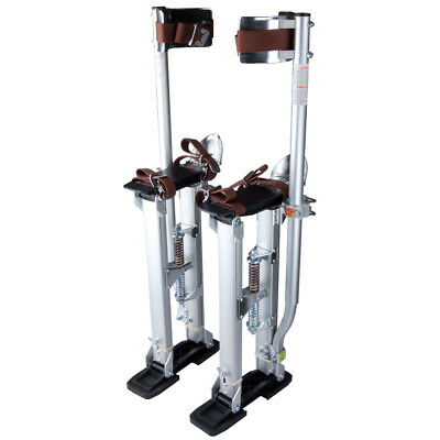 "Large Size 24-40"" Aluminum Drywall Tool Plastering Stilts Painter Builder Silver"