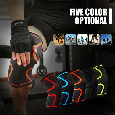 2 X Leg Knee Sleeve Pad Compression Brace Support For Sport Joint Pain Relief