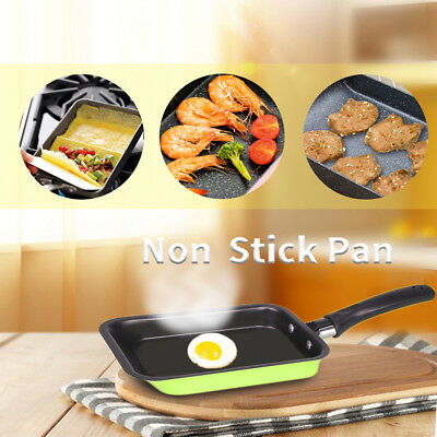 Mini Durable Non-stick Carbon Steel Rectangle Pot Plate Pan Egg Rollers Omelette