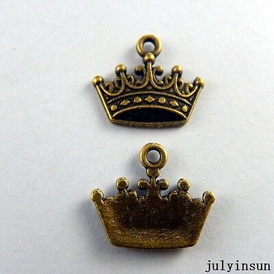 Antique Bronze Alloy Tiny King Crown Charms Crafts Pendants Findings 58x 50921