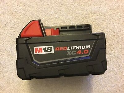 New Milwaukee 48-11-1840 Battery M18 18V 18 Volt XC 4.0 Ah Red Lithium Ion