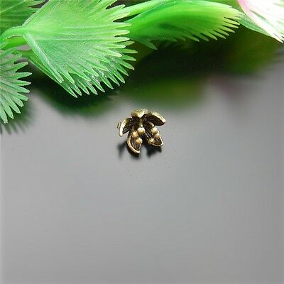 Vintage Bronze Brass Lotus Flower Shaped Charms Pendants Craft Finding 18x 51581