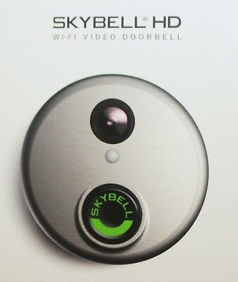 SkyBell HD 1080p Wi-Fi Video Doorbell with Motion Sensor Silver - SH02300SL New