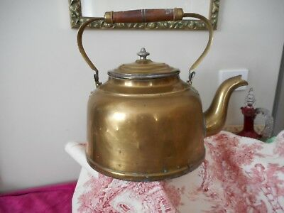 Very large antique water boiling copper or brass kettle