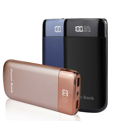 20000/50000mah Portable LCD Power Bank 2 USB Dual LED Battery Charger For Phone