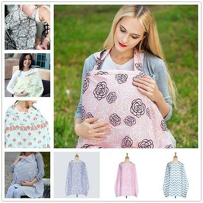 Baby Breastfeeding Nursing Apron Privacy Cover Up Udder Covers Cotton Blanket