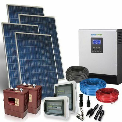 House Solar Kit TR Plus 4.3kW Inverter 5000W Photovoltaic Battery Flooded 240Ah