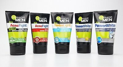 100ml GARNIER MEN POWER WHITE TURBO LIGHT OIL CONTROL ANTI ACNE CLEANSING FOAM
