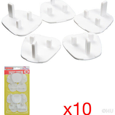 10Pc Plug Socket Cover Mains Electrical Safety Protector Covers Child Baby