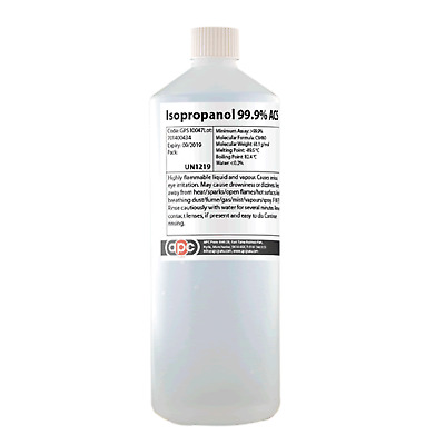 3 x 1 Litre Isopropyl Alcohol 99.9% Pure Isopropanol / IPA *Shipped by Courier*
