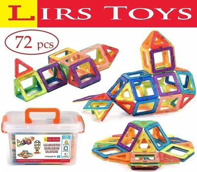 Magnetic Building Blocks Kid Toy 72 Pcs Set Creative Educational 3D Construction