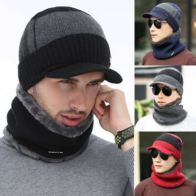 Fashion Unisex Men Women Beanie Cap Wool Knit Winter Hat Beanie+Neckerchief AS