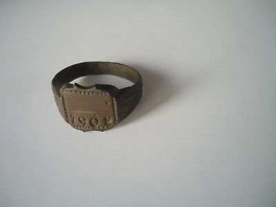 Old male bronze ring 1909's