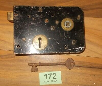 Antique Rim Lock Door Latch Locks With Key 172