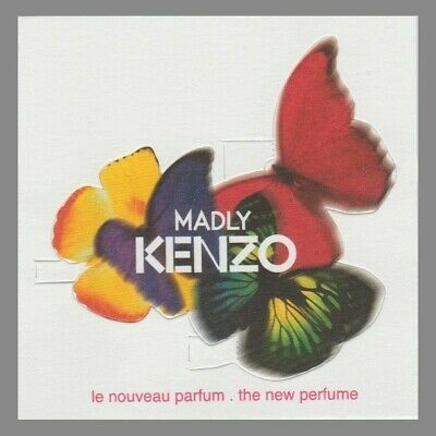 Carte publicitaire - advertising card - Madly  Kenzo