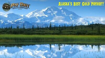 Official PAYDIRT GOLD from ALASKA, THREE (3+) POUNDS - REAL GOLD GUARANTEE - 3lb