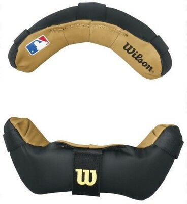 Wilson Umpire Face Mask Replacement Pads Baseball Accessories Black WTA3816BL
