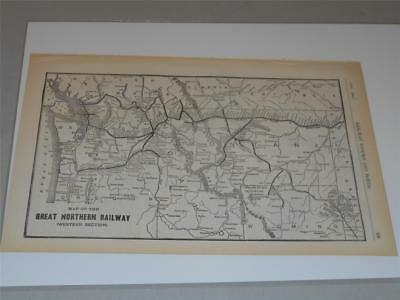 1941 MAP OF the United States great Northern Railway Map - $20.99 ...