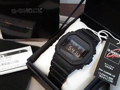 a5e92c872cf4 CASIO G-SHOCK DW-5600BB-1JF Solid Colores Black Mens Watch New in ...
