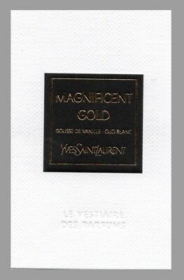 Carte publicitaire- Le Vestiaire des parfums Magnificent Gold Yves Saint Laurent