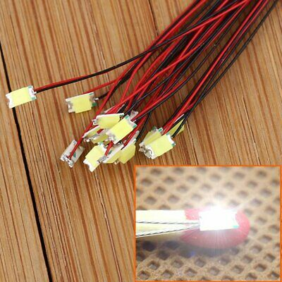 20pcs T1206W Pre-soldered micro litz wired leads Bright White SMD Led 1206