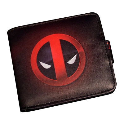 Comics DC Marvel Bifold Wallet Mens Leather PU Short Purse Deadpool Batman Gift