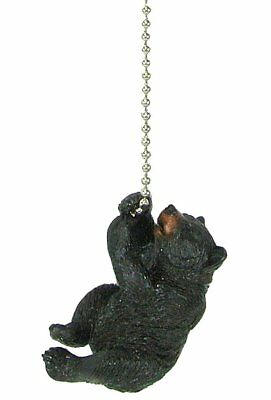 Black bear climbing ceiling fan pull chain extender - lodge decor