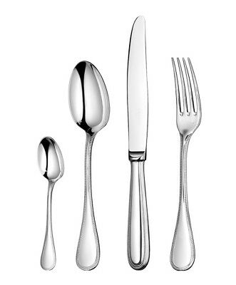 Perles by Christofle Paris France Silver Plated 48-piece Flatware Set Dinner New