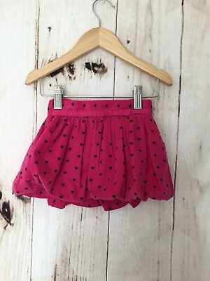 Baby gap baby girls skirt size 12/18 months Pink Corduroy Heart Print