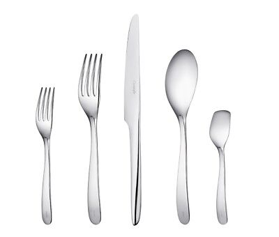 L'Ame De Christofle France Stainless Steel 5pc Place Setting Dinner Modern New