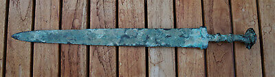 "Bronze Age Sword - Extensive Green Corrosion/Patina. 21"" Long 2"" Wide"