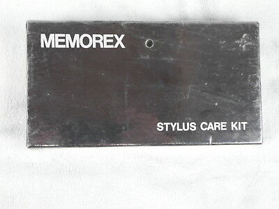 """Memorex"" Record Stylus Care Kit In Box Record Player Cleaning Solution Brush"
