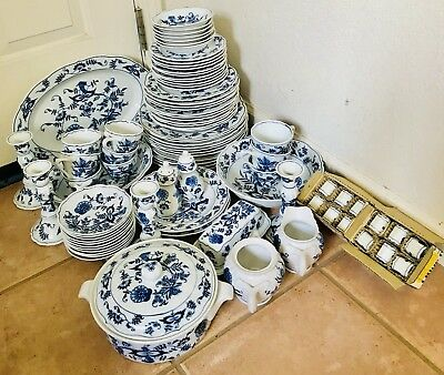 Blue Danube China Set 87 Pieces, Excellent Used Condition Service For 8+++++++++