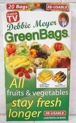 Debbie Meyer Green Bags 20 Bags Re-Usable