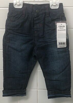 Boys Size 1 (18m) Blue Jeans Obaibi Okaidi New BNWT Winter