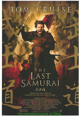 THE LAST SAMURAI MOVIE POSTER RARE Original DS 27x40 TOM CRUISE Horse Style