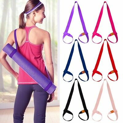 Adjustable Yoga Mat Sling Carrier Shoulder Strap Belt Exercise Sports Gym