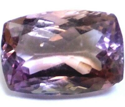 NATURAL CUSHION-CUT PURPLE YELLOW AMETRINE GEMSTONE LOOSE16.5 x 11.2 mm AAAA++